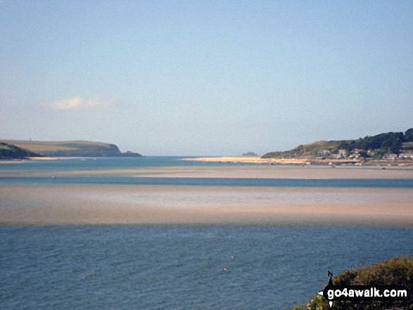 Walk co134 Hayle Bay, Pityme and Rock from Daymer Bay - Walking the Camel Trail, Padstow Bay