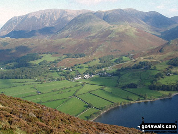 Buttermere village from Red Pike (Buttermere) with the Grasmoor massif looming large in the background