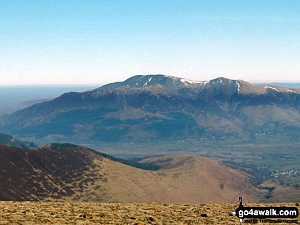 The top of Hobcarton Crag and Grisdale Pike from Crag Hill (Eel Crag) trig point