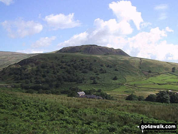 Hey Edge from Crowden. Walk route map d296 Jacob's Ladder and Kinder Scout from Edale photo