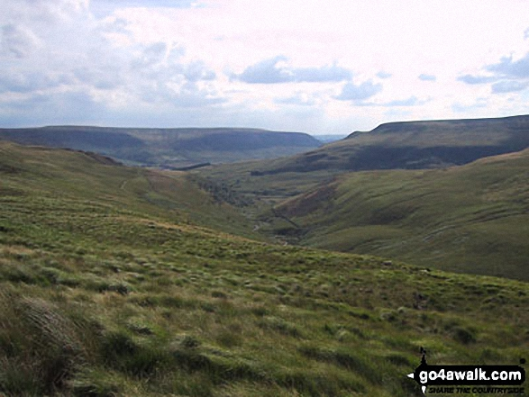 Bleaklow Hill and Lad's Leap from Tooleyshaw Moor