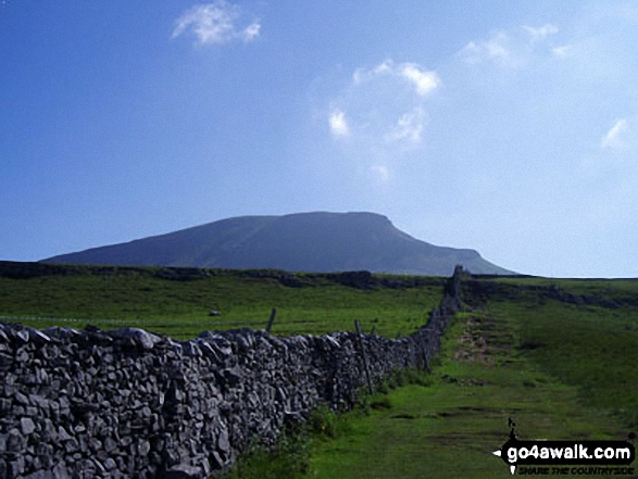Pen-y-ghent from the west near Horton in Ribblesdale