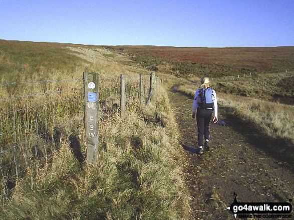 On Pennine Bridleway/Burnley Way heading towards Gorple Stones. Walk route map l167 Gorple Stones from Worsthorne photo