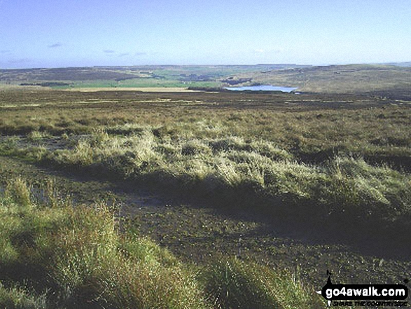 Upper Gorple Reservoir from Gorple Stones on the Pennine Bridleway/Burnley Way. Walk route map l167 Gorple Stones from Worsthorne photo