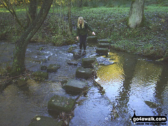 Stepping Stones near Worsthorne. Walk route map l167 Gorple Stones from Worsthorne photo