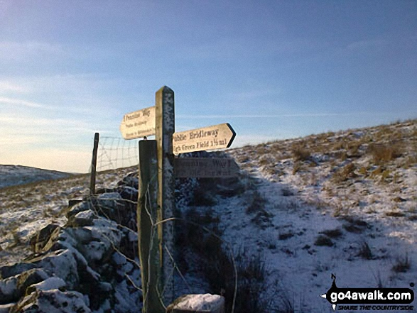 Path junction on Birkwith Moor