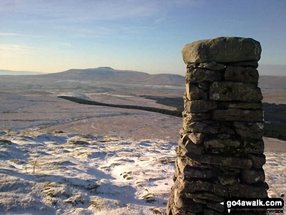 Ingleborough from High Green Field Knott (Cosh Knott) summit
