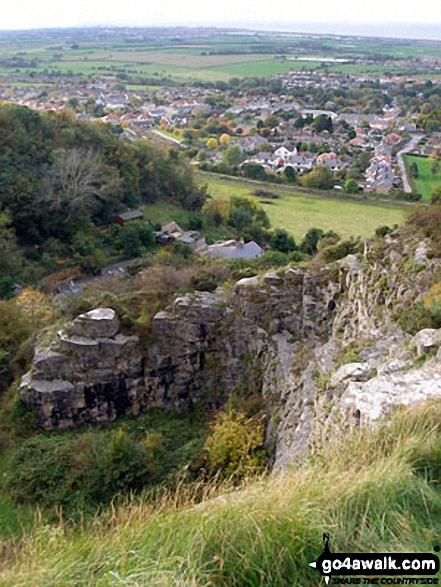 Prestatyn from The Offa's Dyke Path above Crag y Fran, Prestatyn