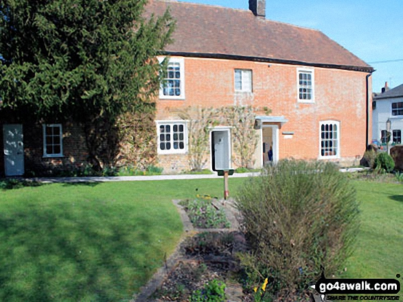 Jane Austen's House Museum from her garden, Chawton
