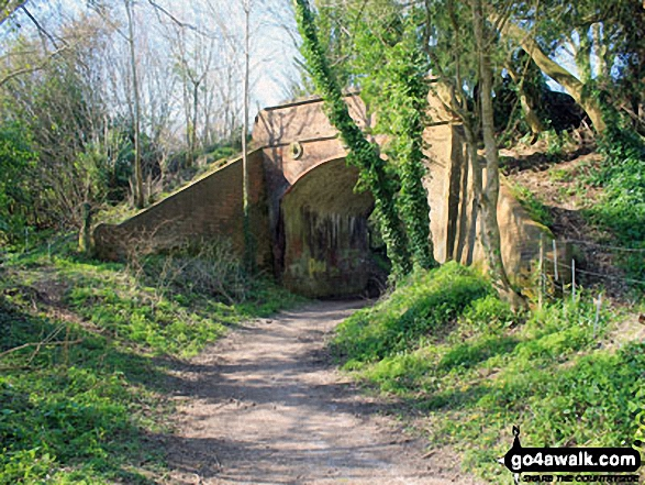 Walk ha123 Four Marks and Chawton Park Wood from Chawton - Bridge carrying the Watercress Line near Alton