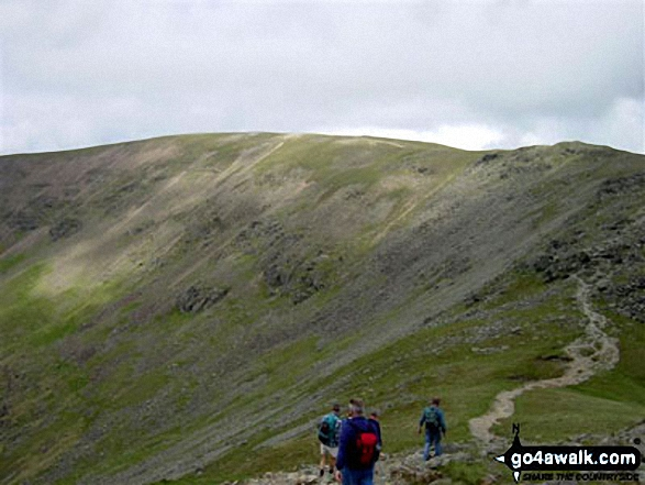 Fairfield from Hart Crag. Walk route map c247 The Fairfield Horseshoe from Ambleside photo