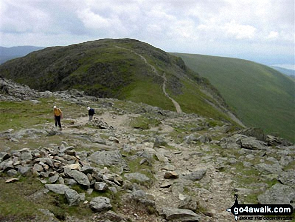 Hart Crag from Fairfield. Walk route map c389 Great Rigg, Fairfield and Hart Crag from Ambleside photo