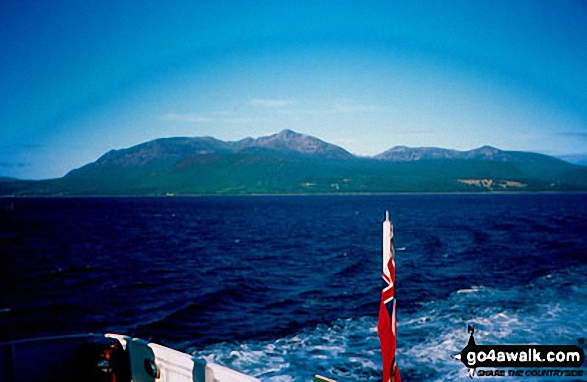 The Isle fo Arran from The Firth of Clyde