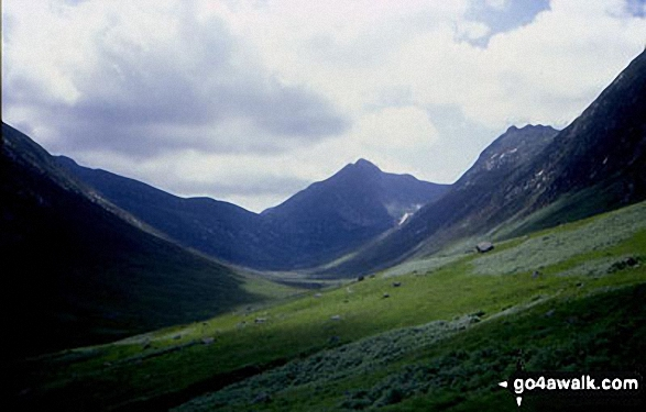 Cir Mhor (centre right) and Caisteal Abhail (right) from Glen Sannox, Isle of Arran