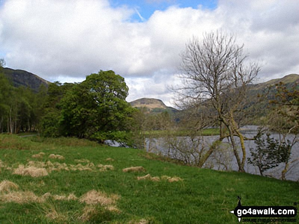 Beinn Each beyond Loch Lubnaig from The Rob Roy Way and Garbh Uisge