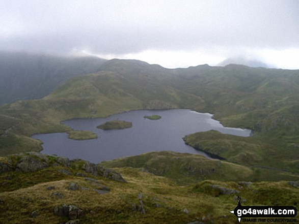 Angle Tarn from Angletarn Pikes. Walk route map c249 The Knott and Angletarn Pikes from Patterdale photo