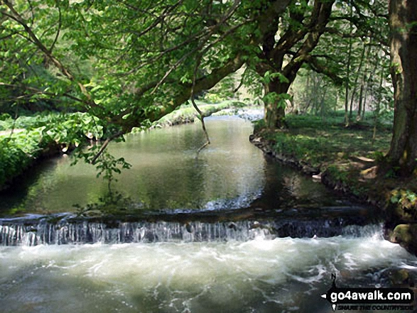 The River Dove in Wolfscote Dale. Walk route map s156 Wetton and Wolfscote Dale from Milldale photo