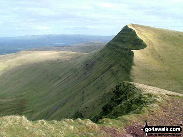 Craig Cwm Sere and Cribyn from Pen y Fan