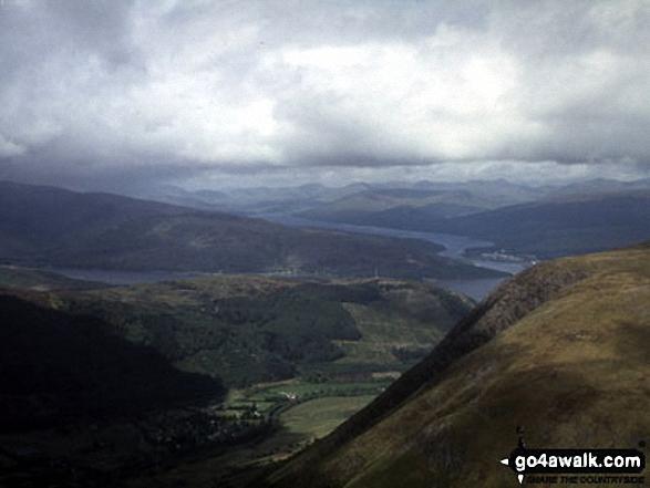 Loch Linnhe (left), Fort William and Loch Eil from Ben Nevis
