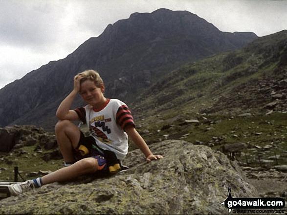 CJ with Tryfan in beyond from near Llyn Ogwen