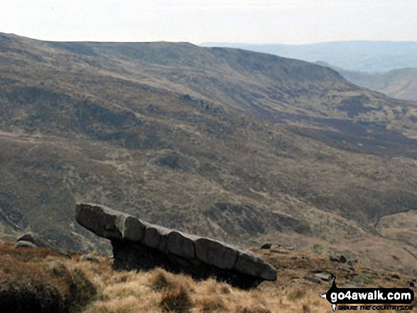 The rather Narnia-like stone table above Mermaid's Pool near The Edge (Kinder Scout), Kinder Scout