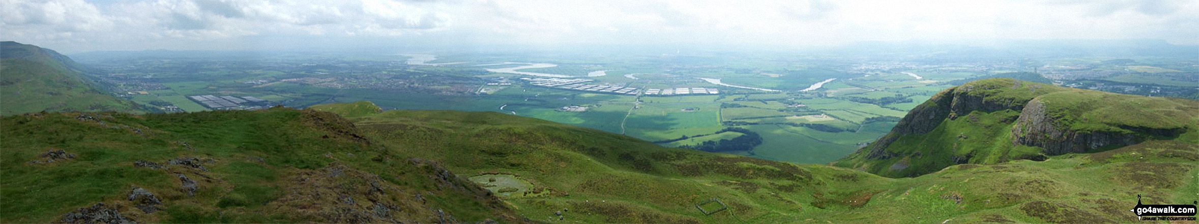 Bridge of Allan, Stirling, The Forth River and Alloa from the summit of Dumyat