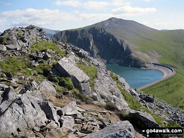Elidir Fawr across Marchlyn Mawr Reservoir from Carnedd y Filiast (Glyders) summit