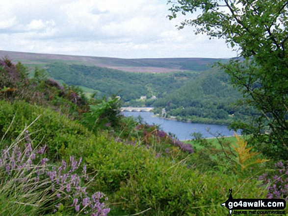Ladybower Reservoir from the lower slopes of Winhill Pike