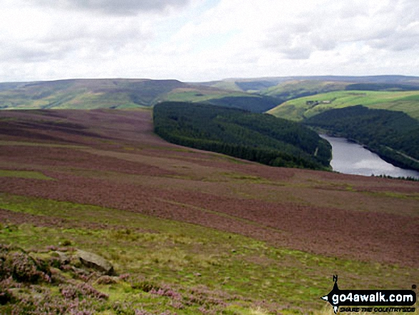 Lose Hill (Ward's Piece) and Ladybower Reservoir from Winhill Pike (Win Hill)