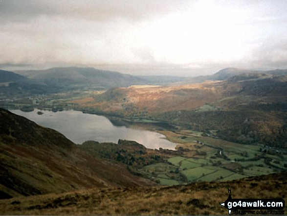 Walk c100 The Newlands Horseshoe from Hawes End - Derwent Water, Blencathra, Walla Crag and  Bleaberry Fell from High Spy