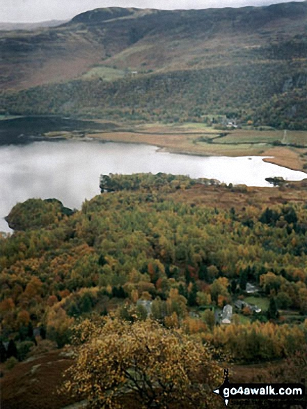 Derwent Water and Bleaberry Fell from Maiden Moor. Walk route map c399 Cat Bells and Derwent Water from Keswick photo
