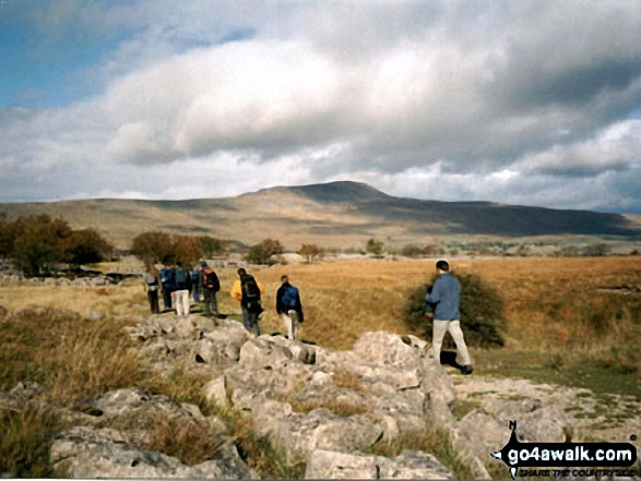 Whernside from near Braithwaite Wife Hole. Walk route map ny101 The Yorkshire Three Peaks from Horton in Ribblesdale (New 2013 Route) photo