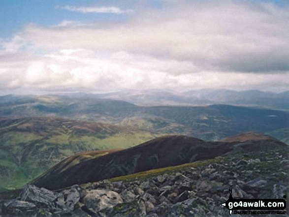 The view from Beinn a' Ghlo (Carn nan Gabhar),  the highest point in  Photo: Peter Swan