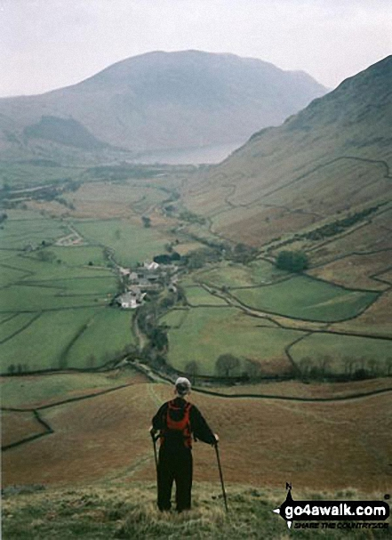 Illgill Head and Wasdale from Kirk Fell. Walk route map c141 Great Gable and Pillar from Wasdale Head, Wast Water photo