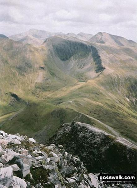 Walk Mullach nan Coirean walking UK Mountains in Fort William and Loch Linnhe to Loch Ericht  Highland    Scotland