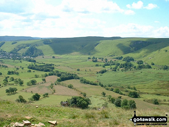Hope from Mam Tor. Walk route map d158 Sparrowpit and Mam Tor from Castleton photo
