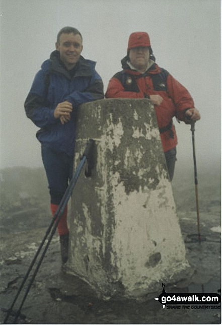 Me and my best friend Dave on Ben Nevis walk Scottish Highlands Highland Scotland walks