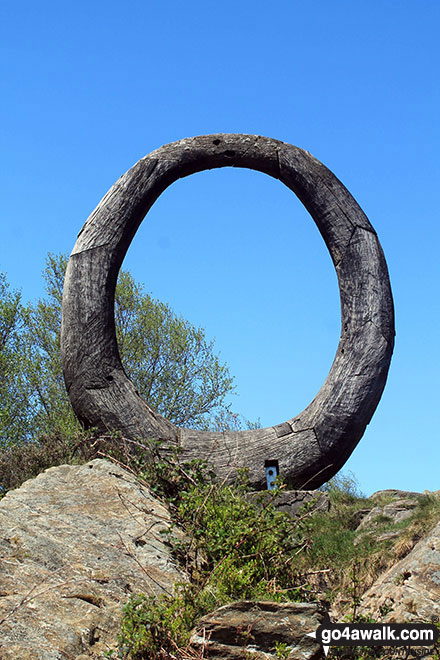 Huge wooden ring near Carron Crag