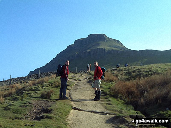 Climbing Pen-y-Ghent on The Yorkshire Three Peaks Challenge