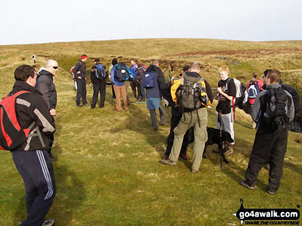 At Hull Pot. Walk route map ny321 The Yorkshire Three Peaks Challenge as a 2 day walk - Day 1 from Horton in Ribblesdale (New 2013 Route) photo