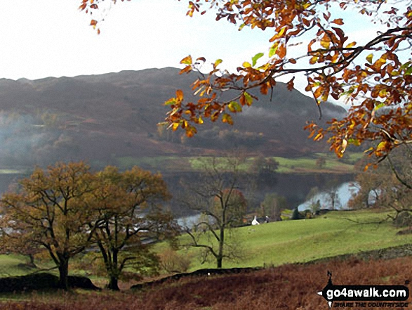 Rydal Water and Loughrigg Fell from the Dove Cottage to Rydal Path