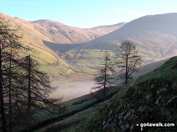 Brock Crags (left), The Knott and Gray Crag (right) from Hartsop Dodd
