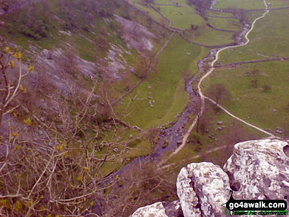 Looking over the edge of Malham Cove