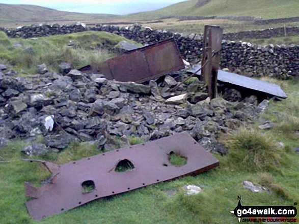 Old pieces of iron below Attermire Scar