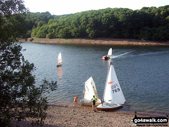 Wimbleball Lake. Walk route map so106 Haddon Hill and Wimbleball Lake from Bury photo
