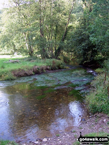 The River Haddeo in Hartford Bottom. Walk route map so106 Haddon Hill and Wimbleball Lake from Bury photo