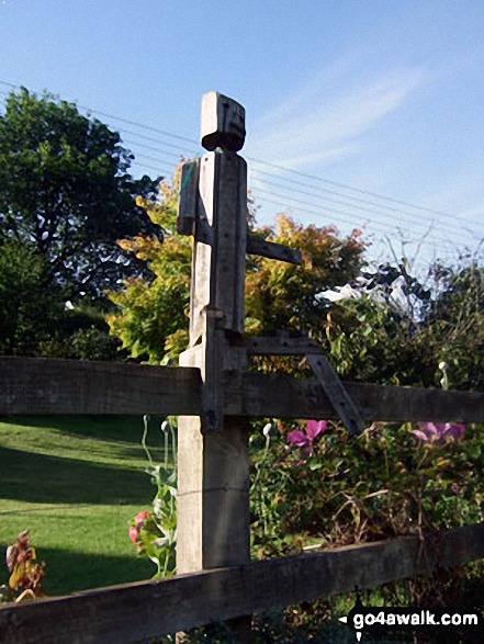 Fence sculpture at Hartford Lodge. Walk route map so106 Haddon Hill and Wimbleball Lake from Bury photo