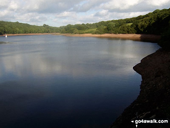 Wimbleball Lake from the Dam. Walk route map so106 Haddon Hill and Wimbleball Lake from Bury photo