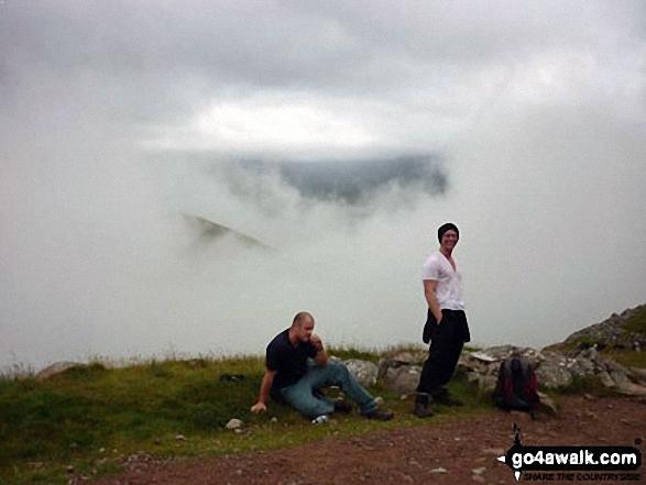 Just below the summit on Ben Nevis