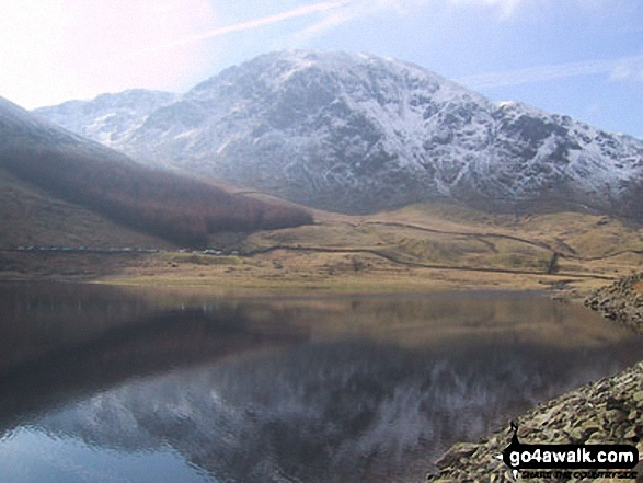 Harter Fell, Mardale Head and Haweswater Reservoir. Walk route map c114 High Street from Mardale Head photo